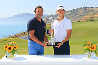 Sir Rocco Forte and Joakim Lagergren (SWE) after the final round of the Rocco Forte Sicilian Open played at Verdura Resort, Agrigento, Sicily, Italy 13/05/2018.<br /> Picture: Golffile | Phil Inglis<br /> <br /> <br /> All photo usage must carry mandatory copyright credit (&copy; Golffile | Phil Inglis)