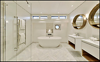BNPS.co.uk (01202 558833)<br /> Pic:  Riverhomes/BNPS<br /> <br /> Palatial bathroom...<br /> <br /> Float your boat? - stunning floating home in the heart of Chelsea comes to market.<br /> <br /> A stunning houseboat moored on the Thames at Chelsea embankment has gone on the market for &pound;1.75m.<br /> <br /> The two bedroom luxury floating home, called Walter Greaves, has all the trappings of a penthouse apartment.<br /> <br /> It was designed, built and finished by the Chelsea Yacht and Boat Company and features a contemporary open-plan design.<br /> <br /> A similar sized two-bed flat overlooking the Chelsea Embankment costs about &pound;3m, making the houseboat a relative bargain.