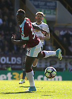 Burnley's Daniel Agyei<br /> <br /> Photographer Stephen White/CameraSport<br /> <br /> The Premier League - Burnley v Manchester United - Sunday 23rd April 2017 - Turf Moor - Burnley<br /> <br /> World Copyright &copy; 2017 CameraSport. All rights reserved. 43 Linden Ave. Countesthorpe. Leicester. England. LE8 5PG - Tel: +44 (0) 116 277 4147 - admin@camerasport.com - www.camerasport.com