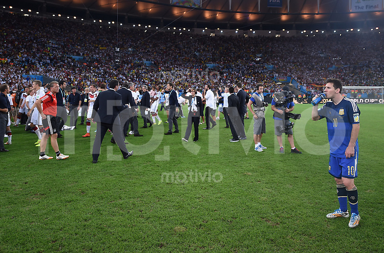 FUSSBALL WM 2014                FINALE Deutschland - Argentinien     13.07.2014 Lionel Messi (Argentinien) ist enttaeuscht
