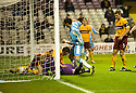 14/12/2010   Copyright  Pic : James Stewart.sct_jsp004_motherwell_v_hearts  .::  MARK REYNOLDS AND DARREN RANDOLPH KNOCK DAVID TEMPLETON'S OVERHEAD KICK INTO THE NET FOR HEARTS FIRST  ::.James Stewart Photography 19 Carronlea Drive, Falkirk. FK2 8DN      Vat Reg No. 607 6932 25.Telephone      : +44 (0)1324 570291 .Mobile              : +44 (0)7721 416997.E-mail  :  jim@jspa.co.uk.If you require further information then contact Jim Stewart on any of the numbers above.........