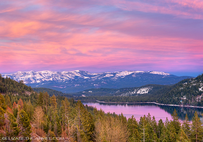 April Sunset, Donner Lake