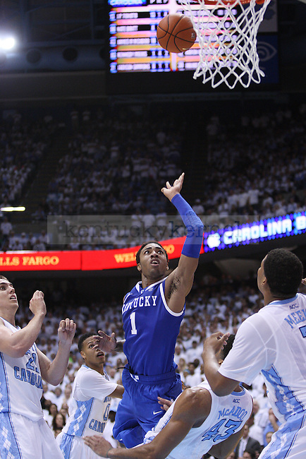 Kentucky Wildcats guard James Young (1) shoots a basket during the UK men's basketball vs. North Carolina at the Dean Smith Center in Chapel Hill, N.C., on Saturday, December 14, 2013. Photo by Emily Wuetcher | Staff