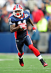 11 October 2009: Buffalo Bills' wide receiver Roscoe Parrish rushes for yardage during a game against the Cleveland Browns at Ralph Wilson Stadium in Orchard Park, New York. The Browns defeated the Bills 6-3 for Cleveland's first win of the season...Mandatory Photo Credit: Ed Wolfstein Photo