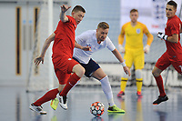 Tomasz Lutecki of Poland and Stuart Cook of England during England vs Poland, International Futsal Friendly at St George's Park on 2nd June 2018
