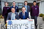 Attending the Col&aacute;iste Gleann L&iacute; Sports Department Cheque Presentation of &euro;199 from Tesco at the school on Thursday. <br /> Janusz Glebocki (Tesco Tralee) and Richard Lawlor (Principal)<br /> Back l-r, Helen Mullins, Sean Fitzgerald (Tesco Tralee), Liam McGill (Deputy Principal) and Zain Ali.