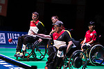 Bastian Keller (GER)<br /> BC4 Bronze Medal Match<br /> Germany v Hong Kong<br /> BISFed 2018 World Boccia Championships <br /> Exhibition Centre Liverpool<br /> 18.08.18<br /> &copy;Steve Pope<br /> Sportingwales