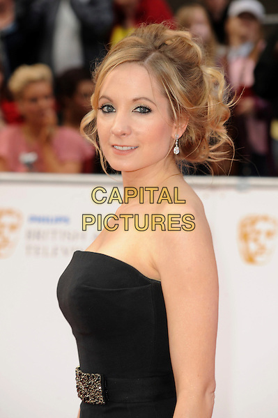 JOANNE FROGGATT .Attending the Philips British Academy Television Awards, Grosvenor house Hotel, Park Lane, London, England, UK, May 22nd 2011..arrivals TV Baftas Bafta half length  strapless black dress side hair up  .CAP/WIZ.© Wizard/Capital Pictures.
