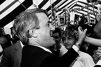 September 1st 1984 File Photo - Brian Mulroney campaign in Montreal, few days before the Federal Election.