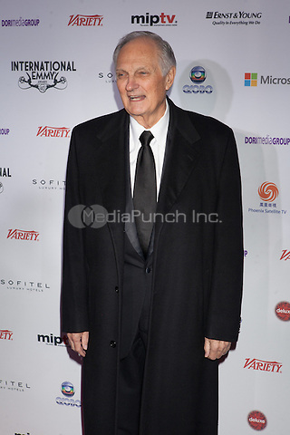 NEW YORK, NY - NOVEMBER 19: Alan Alda at the 40th International Emmy Awards in New York. November 19, 2012. © Diego Corredor/MediaPunch Inc.