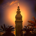 San Francisco's Ferry Building before sunset