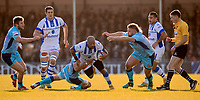 Castres Jody Jenneker in action during todays match<br /> <br /> Photographer Bob Bradford/CameraSport<br /> <br /> European Rugby Heineken Champions Cup Pool 2 - Exeter Chiefs v Castres - Sunday 13th January 2019 - Sandy Park - Exeter<br /> <br /> World Copyright © 2019 CameraSport. All rights reserved. 43 Linden Ave. Countesthorpe. Leicester. England. LE8 5PG - Tel: +44 (0) 116 277 4147 - admin@camerasport.com - www.camerasport.com