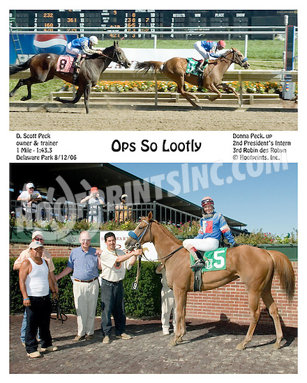 Oops So Lootly winning at Delaware Park on 8/12/06