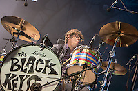 20th July 2014: American rock duo The Black Keys headline the Obelisk Arena on the third day of the 9th edition of the Latitude Festival, Henham Park, Suffolk.<br />  Dan Auerbach (guitar, vocals)<br /> Patrick Carney (drums)<br /> Picture by Stuart Hogben