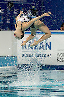 ABE Atsushi;  ADACHI Yumi JPN Japan<br /> Kazan Arena Synchro Sincro Mixed Duet Technical Final<br /> Day03 26/07/2015<br /> XVI FINA World Championships Aquatics Swimming<br /> Kazan Tatarstan RUS July 24 - Aug. 9 2015 <br /> Photo G.Scala/Deepbluemedia/Insidefoto