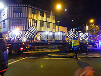 Pictured: The third float at the Christmas parade in Swansea, Wales, UK. Sunday 19 November 2018<br />