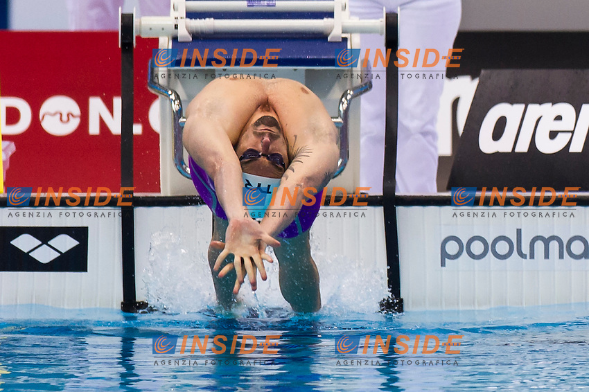 LACOURT Camille FRA<br /> London, Queen Elizabeth II Olympic Park Pool <br /> LEN 2016 European Aquatics Elite Championships <br /> Swimming<br /> Men's 100m backstroke preliminary <br /> Day 08 16-05-2016<br /> Photo Giorgio Perottino/Deepbluemedia/Insidefoto