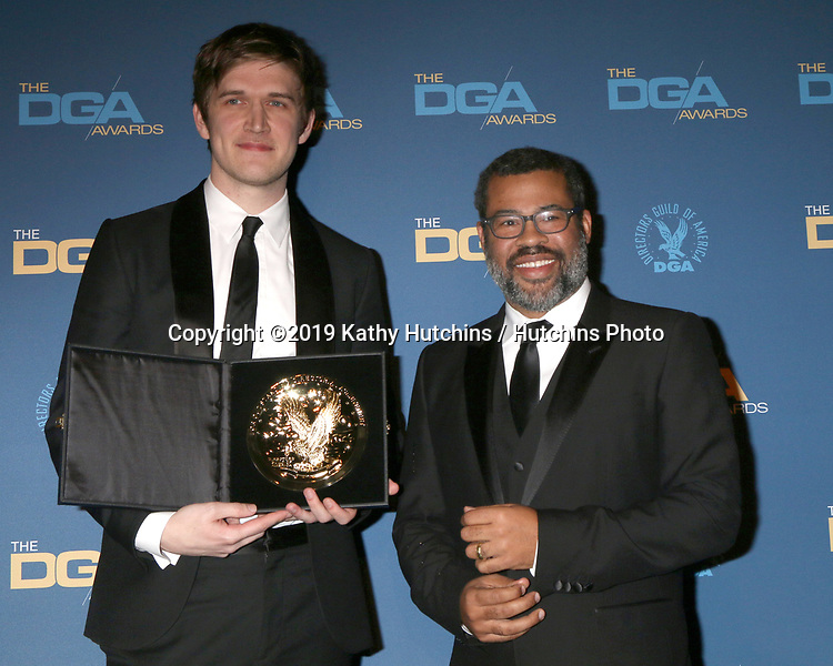 LOS ANGELES - FEB 2:  Bo Burnham, Jordan Peele at the 2019 Directors Guild of America Awards at the Dolby Ballroom on February 2, 2019 in Los Angeles, CA