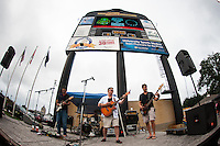 The Mansfield Avenue Band performs. The Portland Thorns defeated the Western New York Flash 2-0 during the National Women's Soccer League (NWSL) finals at Sahlen's Stadium in Rochester, NY, on August 31, 2013.