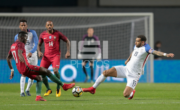 Leiria, Portugal - Tuesday November 14, 2017: Bruma, Danny Williams during an International friendly match between the United States (USA) and Portugal (POR) at Estádio Dr. Magalhães Pessoa.