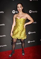 LOS ANGELES, CA - FEBRUARY 07: Jorja Smith attends Spotify's Best New Artist Party at the Hammer Museum on February 07, 2019 in Los Angeles, California.<br /> CAP/ROT/TM<br /> ©TM/ROT/Capital Pictures