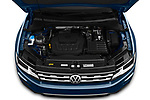 Car stock 2019 Volkswagen Tiguan SE  5 Door SUV engine high angle detail view