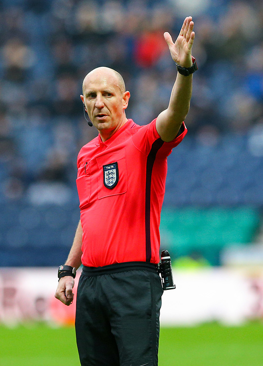 Referee Andy Davies<br /> <br /> Photographer Alex Dodd/CameraSport<br /> <br /> The Emirates FA Cup Third Round - Preston North End v Doncaster Rovers - Sunday 6th January 2019 - Deepdale Stadium - Preston<br />  <br /> World Copyright &copy; 2019 CameraSport. All rights reserved. 43 Linden Ave. Countesthorpe. Leicester. England. LE8 5PG - Tel: +44 (0) 116 277 4147 - admin@camerasport.com - www.camerasport.com