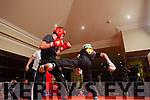 Action from the Kick Boxing fight night in The Devon Inn, Templeglantine last Saturday night.