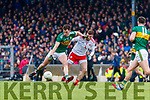 Jack Barry  Kerry in action against Declan McClure Tyrone during the Allianz Football League Division 1 Round 1 match between Kerry and Tyrone at Fitzgerald Stadium, Killarney on Sunday.