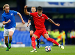 Sevilla's Joaquin Correa (R) in action during the pre season friendly match at Goodison Park Stadium, Liverpool. Picture date 6th August 2017. Picture credit should read: Paul Thomas/Sportimage