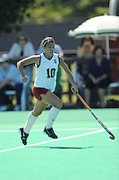 Stanford, CA - SEPTEMBER 27:  Forward Stephanie Byrne #10 of the Stanford Cardinal during Stanford's 7-0 win against the Pacific Tigers on September 27, 2008 at the Varsity Field Hockey Turf in Stanford, California.