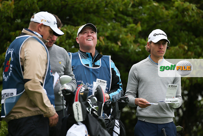Joakim Lagergren (SWE) and caddie Wayne during Round One of the 2016 Dubai Duty Free Irish Open Hosted by The Rory Foundation which is played at the K Club Golf Resort, Straffan, Co. Kildare, Ireland. 19/05/2016. Picture Golffile | David Lloyd.<br /> <br /> All photo usage must display a mandatory copyright credit as: &copy; Golffile | David Lloyd.