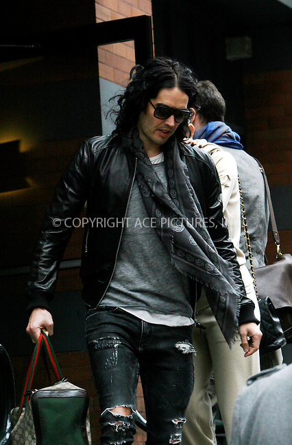 WWW.ACEPIXS.COM . . . . .  ....April 8 2011, New York City....Russell Brand and Katy Perry leave their downtown apartment on April 8 2011 in New York City....Please byline: NANCY RIVERA- ACEPIXS.COM.... *** ***..Ace Pictures, Inc:  ..Tel: 646 769 0430..e-mail: info@acepixs.com..web: http://www.acepixs.com