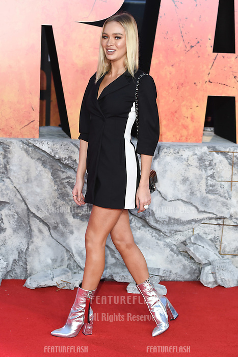 Roxy Horner arriving for the &quot;Rampage&quot; premiere at the Cineworld Empire Leicester Square, London, UK. <br /> 11 April  2018<br /> Picture: Steve Vas/Featureflash/SilverHub 0208 004 5359 sales@silverhubmedia.com