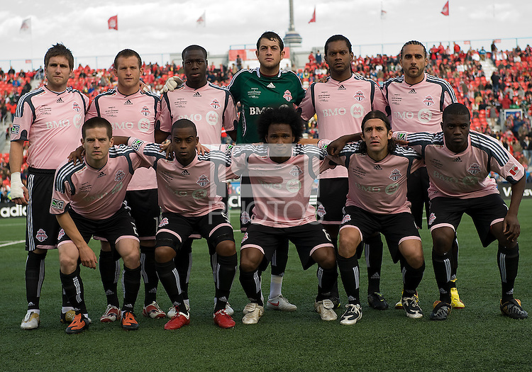 10 October 2009:Starting eleven of the Toronto FC during MLS action at BMO Field Toronto in a game between San Jose Earthquakes and Toronto FC..The final score was 1-1. .