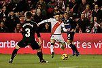Rayo Vallecano's Alex Moreno and CD Leganes's Unai Bustinza during La Liga match between Rayo Vallecano and CD Leganes at Vallecas Stadium in Madrid, Spain. February 04, 2019. (ALTERPHOTOS/A. Perez Meca)