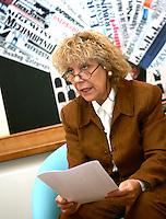 La giornalista e responsabile nazionale del dipartimento Pari Opportunita' dell'Italia dei Valori Wanda Montanelli durante una conferenza stampa a Roma, 17 aprile 2008..UPDATE IMAGES PRESS/Riccardo De Luca