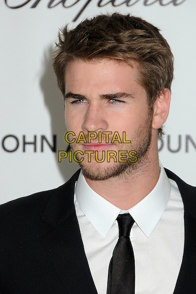 Liam Hemsworth.20th Annual Elton John Academy Awards Viewing Party held at West Hollywood Park, West Hollywood, California, USA..February 26th, 2012.headshot portrait black white beard facial hair stubble .CAP/ADM/BP.©Byron Purvis/AdMedia/Capital Pictures.