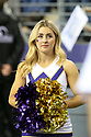 SEATTLE, WA - September 22:  Washington cheerleader Caroline Marquart entertained fans during the college football game between the Washington Huskies and the Arizona State Sun Devils on September 22, 2018 at Husky Stadium in Seattle, WA. Washington won 27-20 over Arizona State.