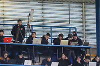 Fleetwood Town media team during the Sky Bet League 1 match between Gillingham and Fleetwood Town at the MEMS Priestfield Stadium, Gillingham, England on 27 January 2018. Photo by David Horn.
