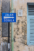One Way Street Sign, George Town, Penang, Malaysia