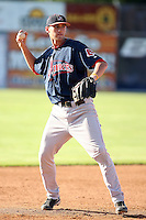 September 11 2008:  Third baseman Will Middlebrooks of the Lowell Spinners, Class-A affiliate of the Boston Red Sox, during a game at Dwyer Stadium in Batavia, NY.  Photo by:  Mike Janes/Four Seam Images