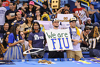 20 December 2011:  FIU fans watch as the Marshall University Thundering Herd defeated the FIU Golden Panthers, 20-10, to win the Beef 'O'Brady's St. Petersburg Bowl at Tropicana Field in St. Petersburg, Florida.