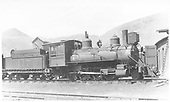 Right side of locomotive near roundhouse.<br /> D&amp;RGW  Salida, CO  Taken by Perry, Otto C. - 5/27/1923
