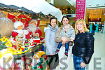 Santa Arriving On Saturday At Manor West Retail Centre. Pictured Charlotte Quirke, Leanne Quirke, Jadan Quirke and Philomena Quirke