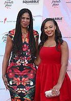 LOS ANGELES, CA - APRIL 6: Holly Frazier, Nia Sioux, at the Ending Youth Homelessness: A Benefit For My Friend's Place at The Hollywood Palladium in Los Angeles, California on April 6, 2019.   <br /> CAP/MPI/SAD<br /> &copy;SAD/MPI/Capital Pictures