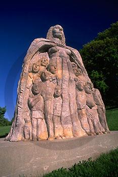 """Harrisburg, PA, Reservoir Park, """"Motherhood"""" Sculpture"""