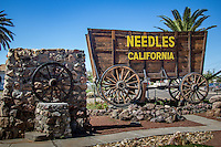 Needles Borax Wagon Welcome Sign  on Route 66 in Needles California