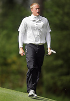 21 May, 2010:   Loyola College's Jason Burton walks off hole 11 after sinking his putt during the first round of the NCAA West Regionals at Gold Mountain Golf Course in Bremerton, Washington.