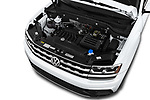 Car stock 2018 Volkswagen Atlas S 5 Door SUV engine high angle detail view